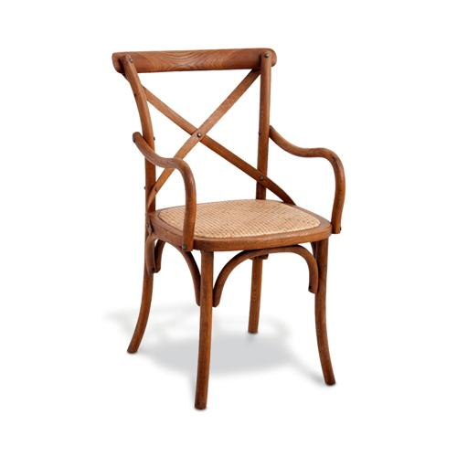 A cadeira estreita em versão com braços.