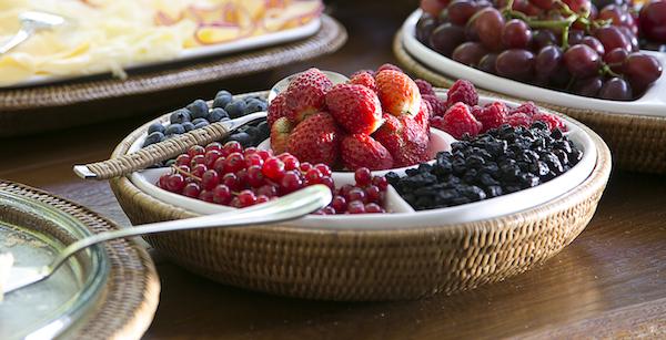 close frutas vermelhas