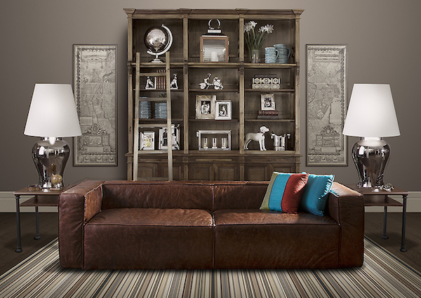 sofa couro 2 lugares