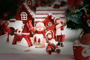 frosty casinha e crianças