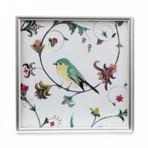 Quadro passarinho turquesa