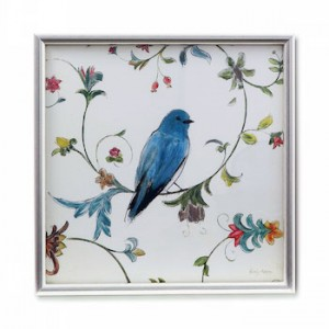 Quadro passarinho azul
