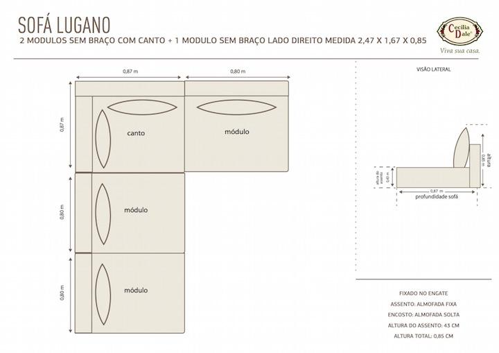 Como usar bem o sof modular room - Medidas de sofas 3 2 ...