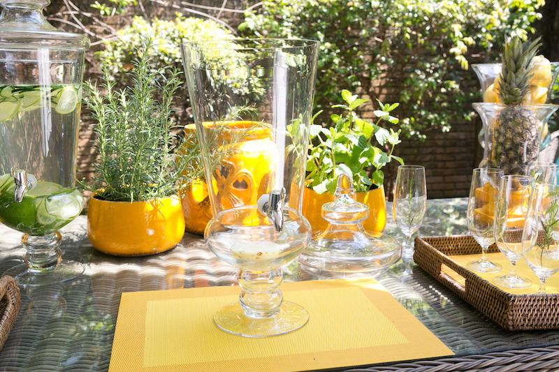 Escolha uma suqueira de vidro transparente como essa, limpa e vazia.