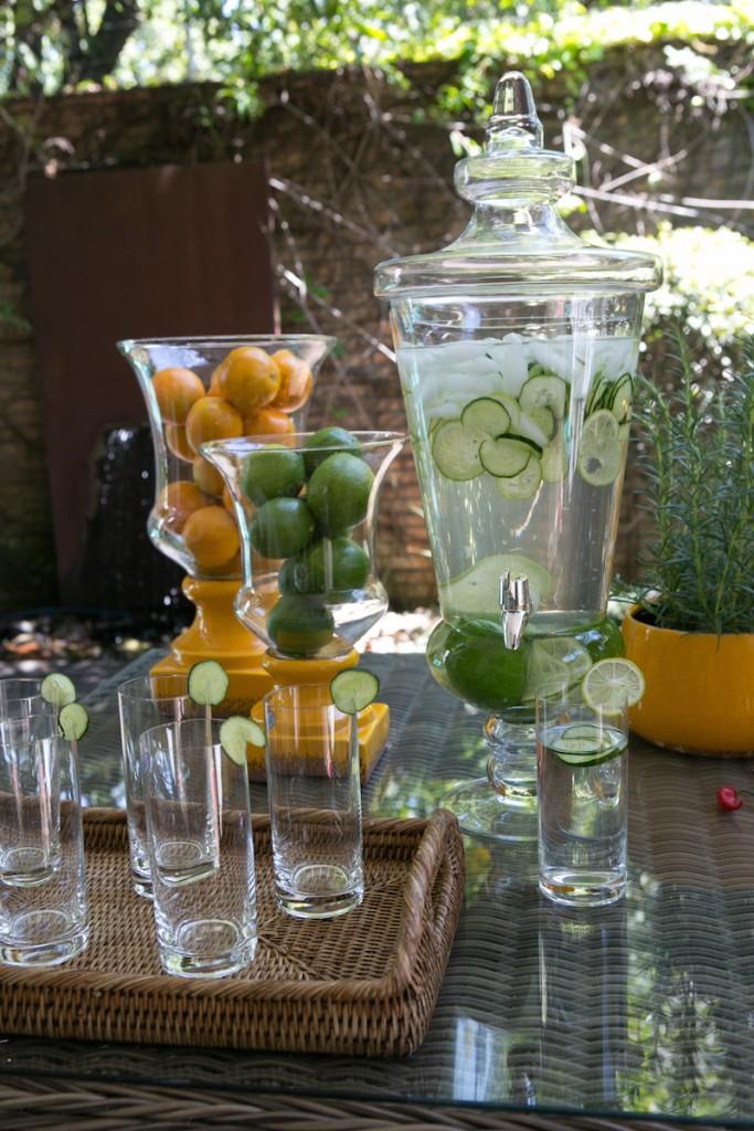Jarras de vidro com torneiras - Cecilia Dale
