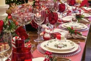 A mesa da ceia de Natal