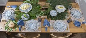 Brisa do mar na mesa do almoço
