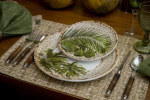 Lembranças da Bahia – mesa com os coqueiros de Trancoso