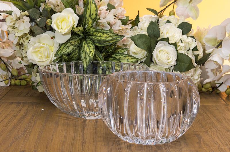 O centro de mesa em cristal vai fazer sucesso nos almoços em família.