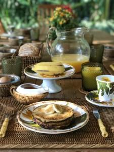 Panquecas de banana para o café da manhã