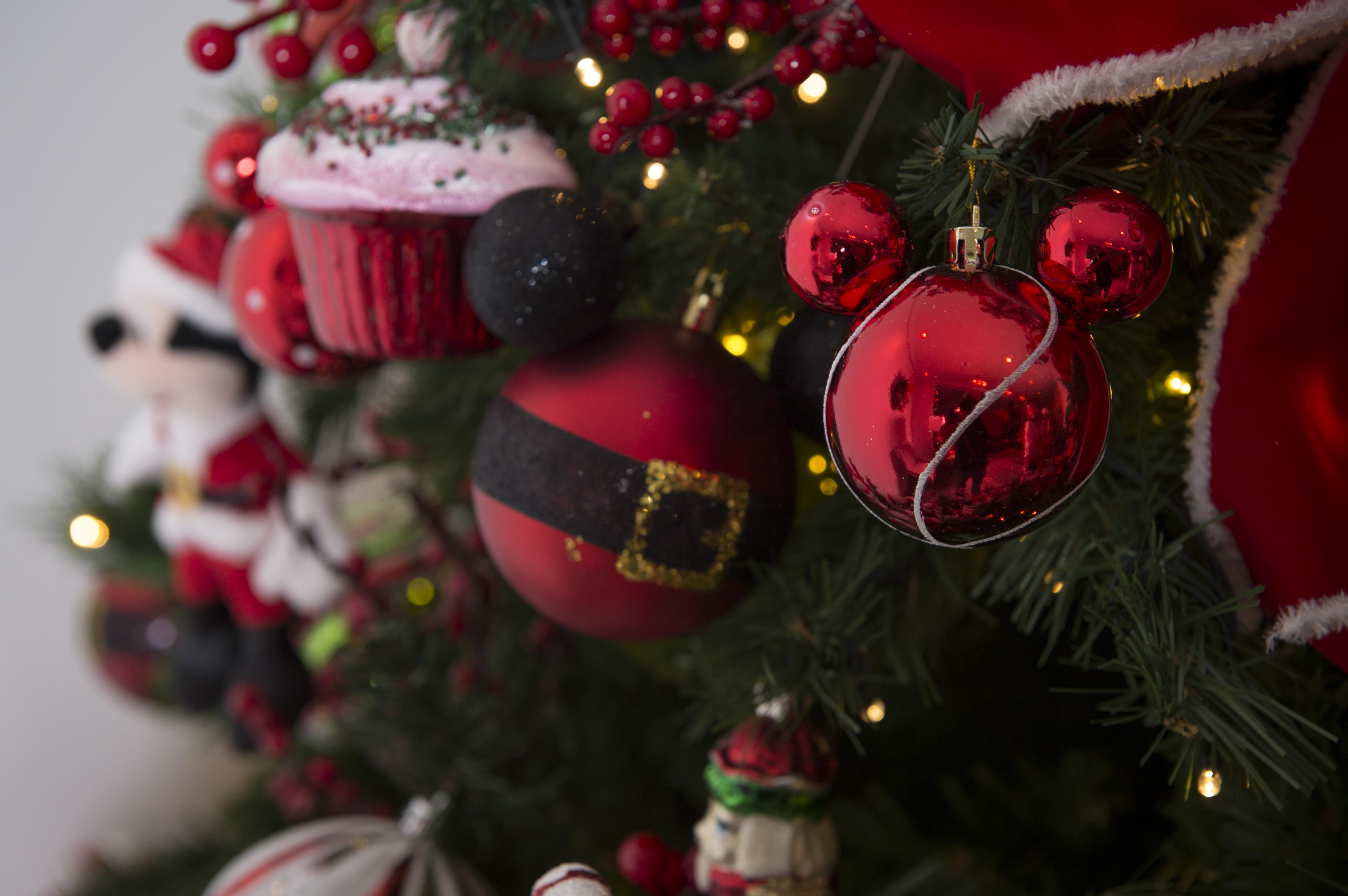 A árvore com os enfeites completa o clima mágico do dia de Natal.