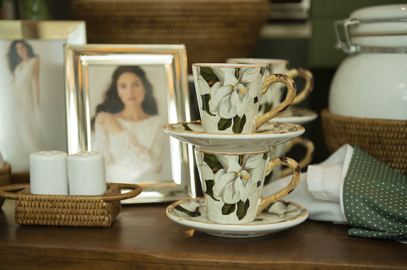 Xícaras de café louça Magnólia - Cecilia Dale