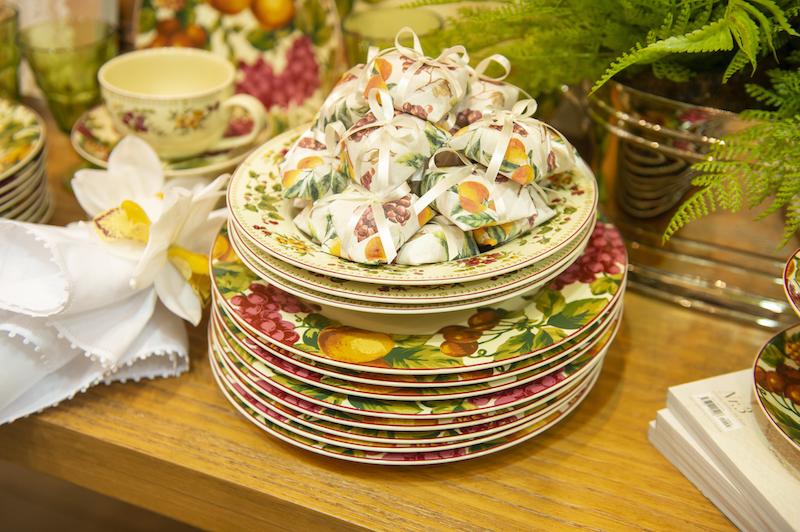 Jogo de jantar fruit paradise em porcelana - Cecilia Dale