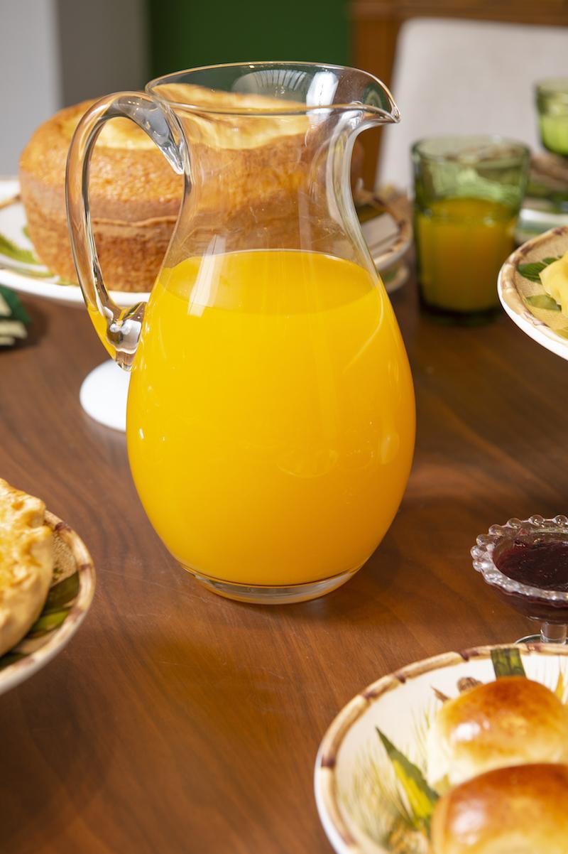 Jarra de cristal Bohemia com suco de laranja - Cecilia Dale